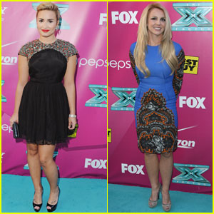 Britney Spears & Demi Lovato: 'X Factor' Premiere & Handprint Ceremony!