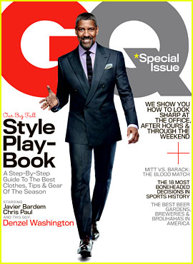 Denzel Washington Covers 'GQ' October Style Playbook