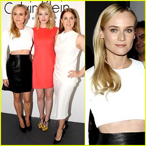Diane Kruger & Emma Stone: Calvin Klein Fashion Show!