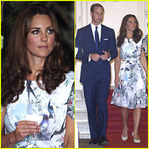 Duchess Kate Toasts the Queen with Glass of Water