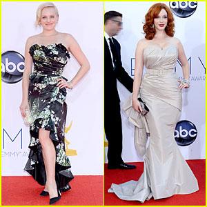Elisabeth Moss & Christina Hendricks - Emmys 2012 Red Carpet