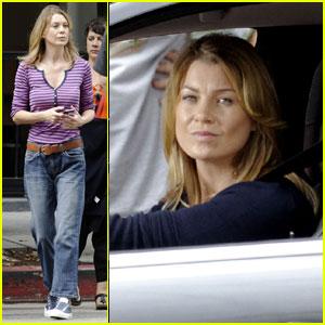 Ellen Pompeo: 'Grey's Anatomy' Set
