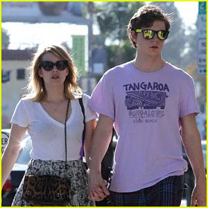 Emma Roberts & Evan Peters: Holding Hands on Melrose!