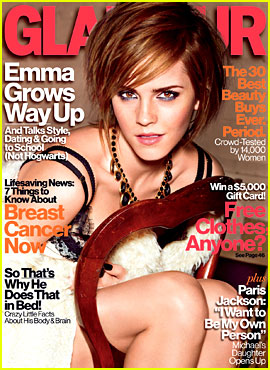 Emma Watson Covers 'Glamour' October 2012