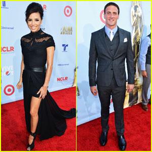 Eva Longoria & Ryan Lochte: ALMA Awards Red Carpet!