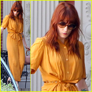 Florence Welch Heads to Blake Lively & Ryan Reynolds' Wedding - First Pics!