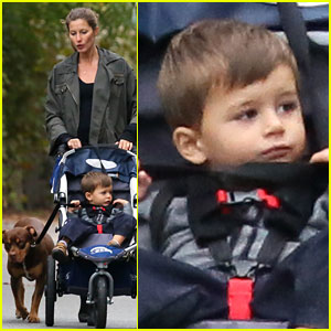 Gisele Bundchen: Saturday Stroll with Benjamin & Lua!