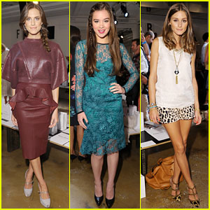 Hailee Steinfeld & Allison Williams: Peter Som Fashion Show!