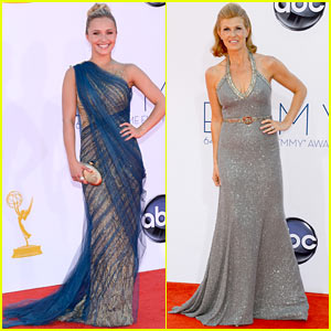 Hayden Panettiere & Connie Britton - Emmys 2012 Red Carpet