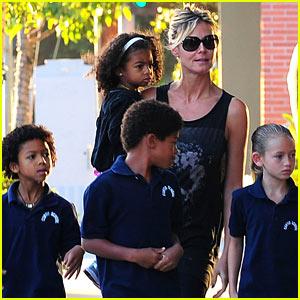 Heidi Klum: Starbucks Run with Martin Kirsten & the Kids!