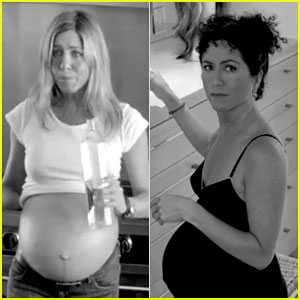 Jennifer Aniston: Fake Baby Bump in smartwater Video!