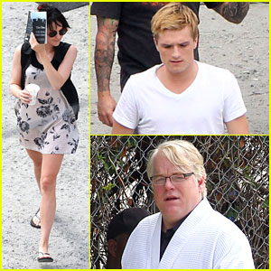 Jennifer Lawrence & Josh Hutcherson 'Catch Fire' in Atlanta