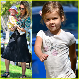 Jessica Alba, Honor, & Haven Visit Friends!