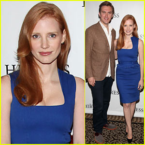 Jessica Chastain: 'The Heiress' Photo Call with Dan Stevens!