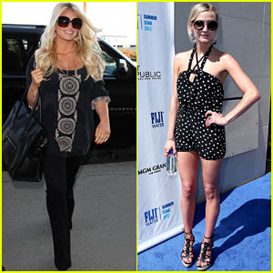 Jessica Simpson Heads to 'Katie', Ashlee Simpson Hosts for Fiji Water!