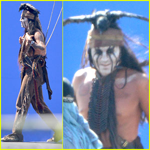 Johnny Depp: Shirtless on 'Lone Ranger' Set!