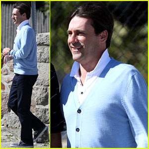 Jon Hamm: 'Clear History' Set Break!