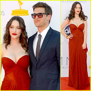 Kat Dennings & Nick Zano - Emmys 2012 Red Carpet