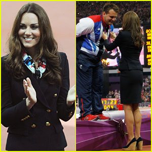 Duchess Kate Presents Aled Davies with His Gold Medal!