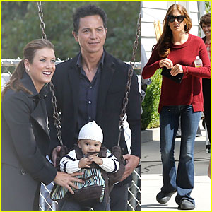 Kate Walsh: 'Private Practice' Set with Benjamin Bratt
