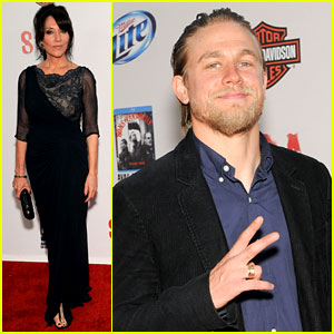 Charlie Hunnam & Katey Sagal: 'Sons of Anarchy' Premiere!