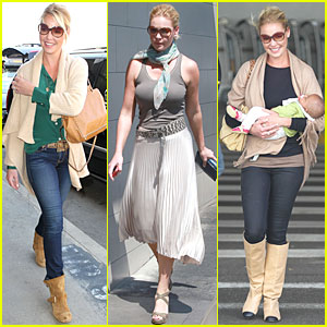 Katherine Heigl: LAX Departure with Momager Nancy!