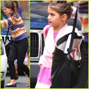 Katie Holmes Picks Suri Up From Ballet Class