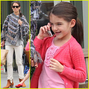 Katie Holmes & Suri: Mommy-Daughter Brunch!