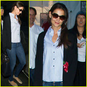 Katie Holmes: Lincoln Center with Jeanne Yang!