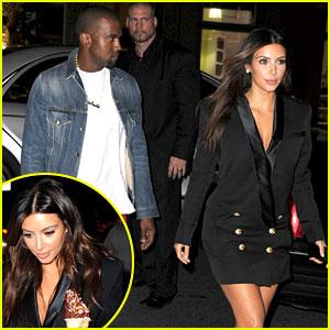 Kim Kardashian & Kanye West: Ice Cream Cone Couple!