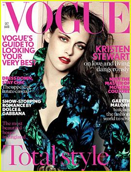 Kristen Stewart Covers 'British Vogue' October 2012