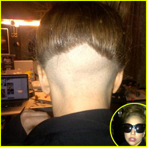 Lady Gaga Shaves The Back Of Her Head!
