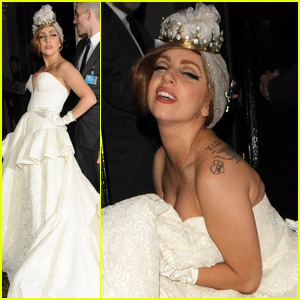 Lady Gaga: Wedding Dress for Paralympic Games After Party!