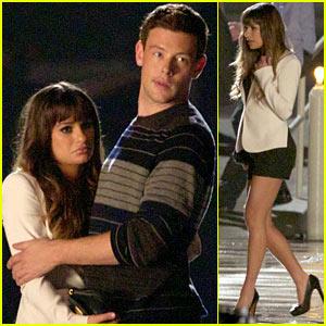 Lea Michele & Cory Monteith Film Intimate 'Glee' Scene!