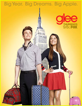 Chris Colfer & Lea Michele: 'Glee' NYC Promo Poster!