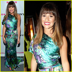 Lea Michele: 'Nylon' September TV Issue Launch Party!