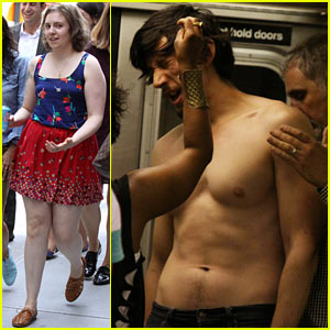 Lena Dunham: 'Girls' Set with Shirtless Adam Driver!