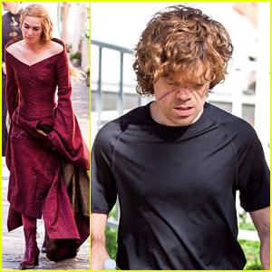 Lena Headey & Peter Dinklage: 'Game of Thrones' Set!