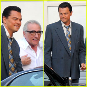 Leonardo DiCaprio: 'Wall Street' Set with Martin Scorsese!