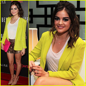 Lucy Hale Hosts Beverly Center's Fashion's Night Out!