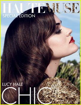 Lucy Hale Covers 'HauteMuse' Magazine