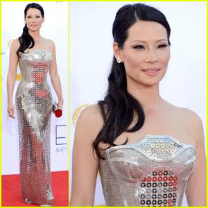 Lucy Liu - Emmys 2012 Red Carpet