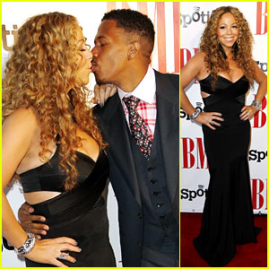 Mariah Carey & Nick Cannon Kiss at BMI Urban Awards