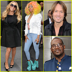Mariah Carey &#038; Nicki Minaj: 'American Idol' Judges Photo Call!
