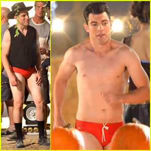 Max Greenfield: Shirtless Speedo Sexy on 'New Girl' Set!