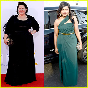 Melissa McCarthy & Mindy Kaling - Emmys Presenters 2012