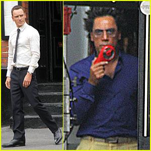 Michael Fassbender & Javier Bardem: 'Counselor' Set!