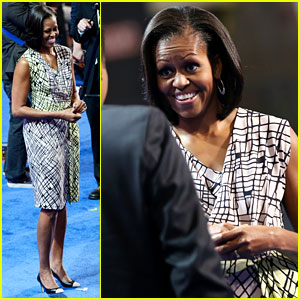Michelle Obama Preps for Democratic National Convention