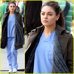 Mila Kunis: Hospital Scrubs for 'Angriest Man'!