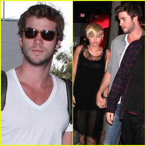 Liam Hemsworth & Miley Cyrus: Mercato di Vetro Date Night!